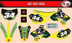 Adesivo Suzuki DRZ 400 Brasil Racing Edição Especial + Capa de banco