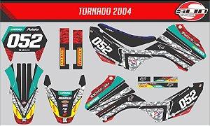 Adesivo Honda Xr 250 Tornado - Camuflada Flow + Capa de Banco