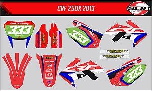 Adesivo Honda Crf 250x - Honda Racing Line