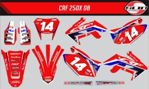 Adesivo Honda Crf 250x - Honda Red Motor Racing Team