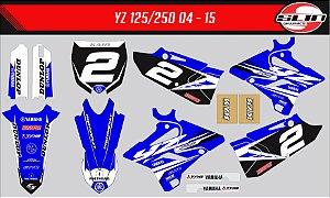 Adesivo Yamaha YZ 125/250 - Réplica Ryan Villopoto + Adesivo Suspensão