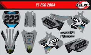 Adesivo Yamaha YZ 125/250 - Seven Design + Capa de banco