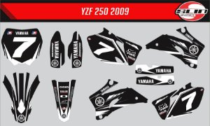 Adesivo Yamaha YZF 250/450 - Star Racing Black Edition