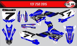 Adesivo Yamaha YZF 250/450 - San Manuel James Stewart