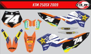 Adesivo Ktm 250/350/450 SX - Rockstar Energy Drink