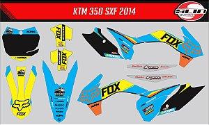 Adesivo Ktm 250/350/450 SX - Fox Racing Cyan