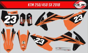 Adesivo Ktm 250/350/450 SX - Orange Flux Racing Design