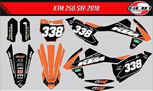 Adesivo Ktm 250/350/450 SX - Motorex Orange Racing