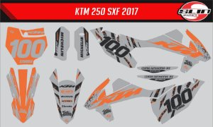 Adesivo Ktm 250/350/450 SX - Orange Trigger Racing Team