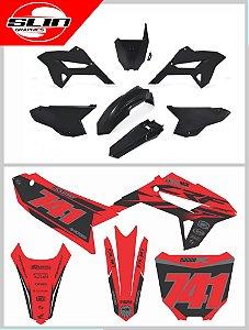 Adesivos Personalizados + Kit Plástico Biker R1DE