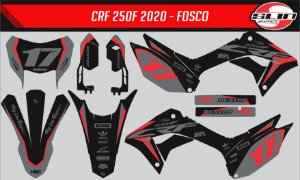 Adesivo Honda Crf 250f 21 Nacional - Black Flow