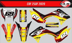 Adesivo Honda Crf 250f 21 Nacional - Line Yellow