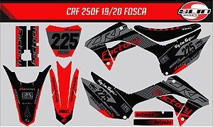 Adesivo Honda Crf 250f 21 Nacional - Black and Red Flux + Capa de banco