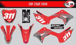 Adesivo Honda Crf 250f 21 Nacional - Standard Racing