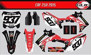 "Adesivo Honda Crf 250r - Black Flux Racing + Adesivo Suspensão ""Showa"""
