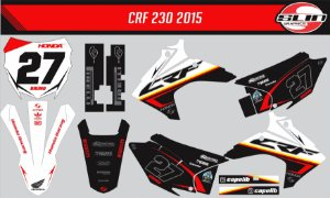Adesivo Honda Crf 230 15/19 - Line Racing Flow