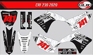 Adesivo Honda Crf 230 21 - Black Line Special Edition