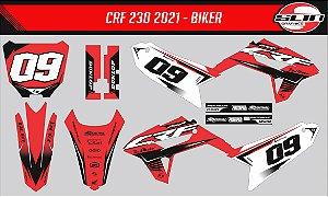 Adesivo Honda Crf 230 21 - Honda Flow Racing
