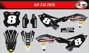 Adesivo Kawasaki Kxf 250 - Pro circuit Racing