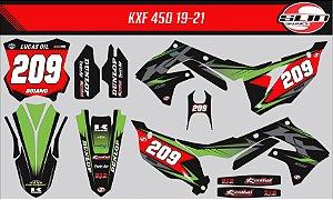 Adesivo Kawasaki Kxf 450 - Line Standard Racing