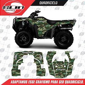 Adesivo QuadriciClo - Honda Four Trax 08 12 Camuflado