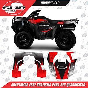 Adesivo Quadriciclo - Honda Four Trax 08 12 Flux Row