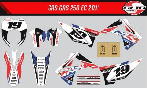 Adesivo Gas Gas 250ec 2011  - France Racing Edition