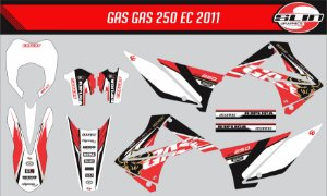 Adesivo Gas Gas 250ec 2011  - Replica Cervantes