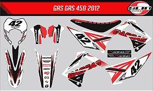 Adesivo Gas Gas 450 2012  - Flow Standard Racing + Capa de Banco