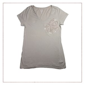 Camiseta Flor Old Navy