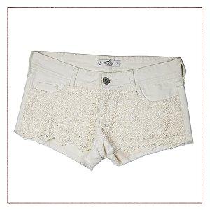 Shorts Renda Hollister