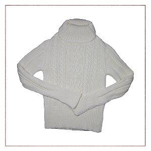 Tricot Trançado Branco