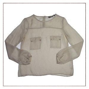 Camisa Zara Transparente