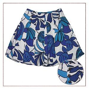 Shorts Zara Floral Azul