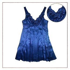 Vestido Forever 21 Festa Azul Flores