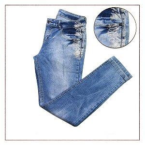 Calça Jeans Prata