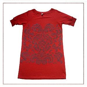 Vestido Hering Moletom Vermelho