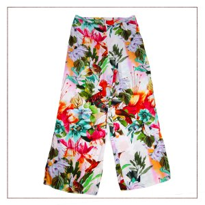 Calça Pantalona Floral Minari