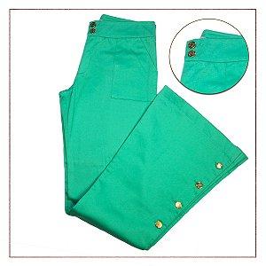 Calça Flare Verde Lulu Collection