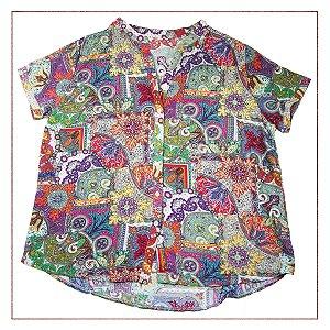 Camisa Manga Curta Pimentel Colorida