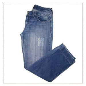 Calça Jeans Riscada Le Lis Blanc
