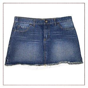Saia Zara Jeans barra desfiada