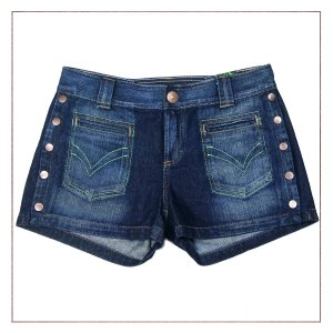 Shorts Jeans OperaRock Botões