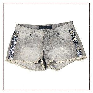 Shorts Jeans John John bordado lateral