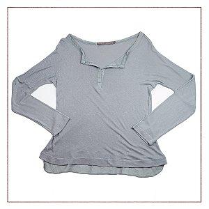 Camisa Espaço Fashion Cinza