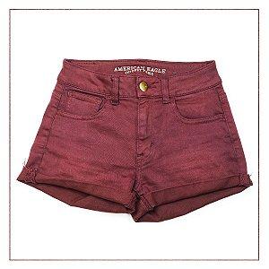 Shorts American Eagle Vinho