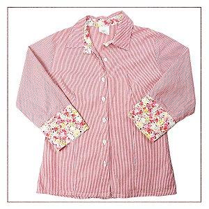 Camisa Listras e Flores