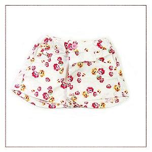 Shorts Zara Floral Meninas