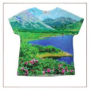 Camiseta Tyrol Estampada Paisagem