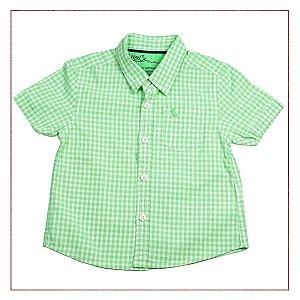 Camisa Zara Infantil Verde